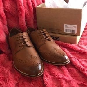 Never worn - ASOS Mojito Leather Brogues in Tan